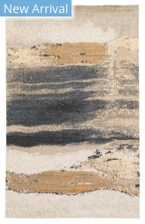 Jaipur Living Wabi Sabi By Zoe Bios Mignonne Zob01 Gold - Gray Area Rug