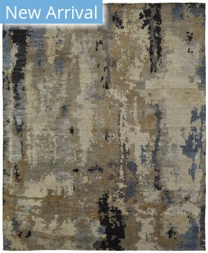 Famous Maker Harmony 100950 Tans/Blues Area Rug