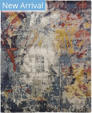 Famous Maker Jupiter 100079 Blues Multi Area Rug