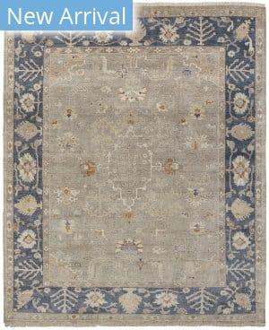 Famous Maker Oushak 100474 Grey / Navy Area Rug