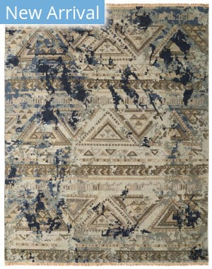 Famous Maker Soumak 100493 Natural/Denim Area Rug
