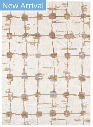 Karastan Artisan Equilibrium Antique White - Brushed Gold Area Rug
