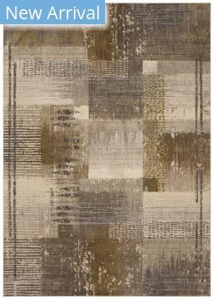 Karastan Enigma Abstract Blocks Smokey Grey - Antique White Area Rug