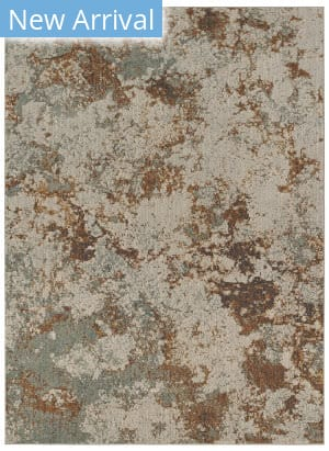 Karastan Elements Brockway Gray - Gold Area Rug