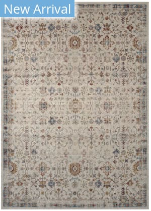 Karastan Tryst Adana Cream - Light Grey Area Rug
