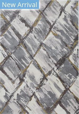Kas Elements 6550 Ivory - Grey Area Rug