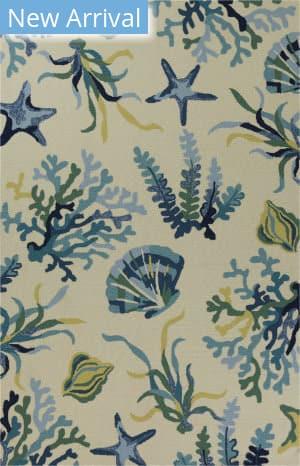 Kas Harbor 4244 Ivory - Blue Area Rug