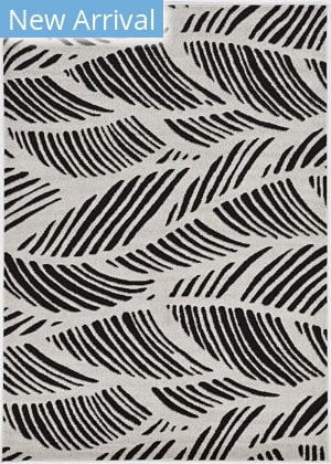 Kas Lucia 2770 Black - White Folia Area Rug