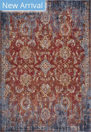 Kas Manor 6357 Spice - Blue Area Rug