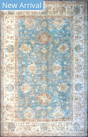 Kashee Oushak Oak Light Blue - Ivory Area Rug