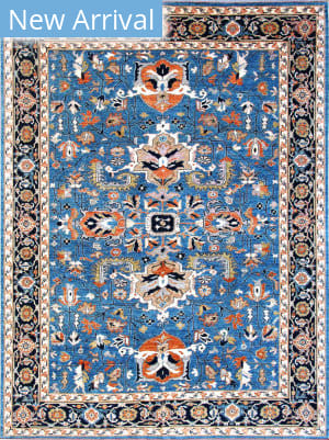 Kashee Vintage OAK Light Blue Area Rug