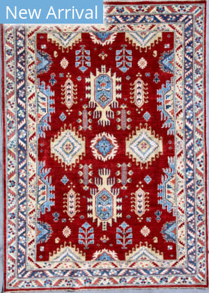 Kashee Taro OAK Rust - Blue Area Rug