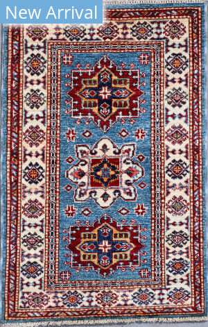 Kashee Royal Kazak OAK Light Blue - Ivory Area Rug