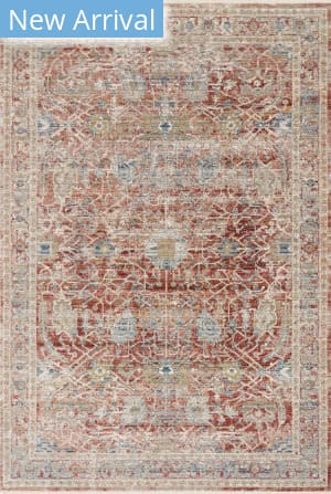 Loloi Claire Cle-01 Red - Ivory Area Rug