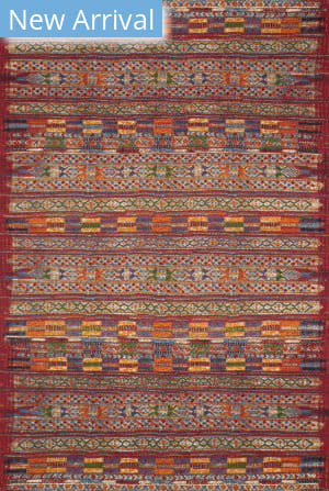 Loloi Mika Mik-09 Red - Multi Area Rug
