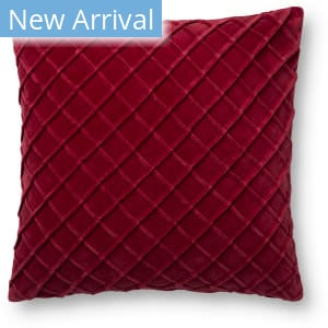 Loloi Pillows P0125 Red Area Rug