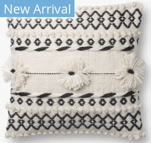 Loloi Pillows P0729 Natural - Charcoal
