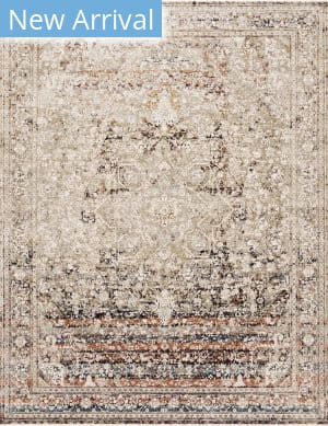 Loloi Theia The-05 Taupe - Brick Area Rug