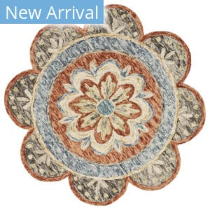 Lr Resources Dazzle 54091 Rust Area Rug