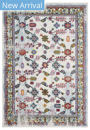 Lr Resources Fusion 81347 White - Blue Area Rug