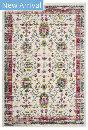Lr Resources Fusion 81348 White - Blue Area Rug