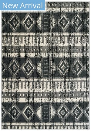 Lr Resources Infinity 81306 Gray - Anthracite Area Rug