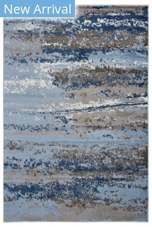Lr Resources Infinity 81319 Light Blue - Slate Blue Area Rug