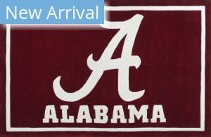 Luxury Sports Rugs Tufted University of Alabama Crimson