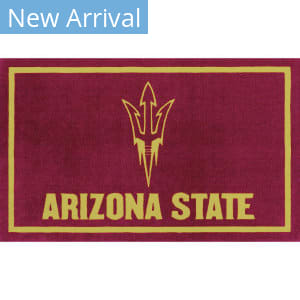 Luxury Sports Rugs Team Arizona State University Maroon Area Rug