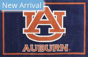 Luxury Sports Rugs Tufted Auburn University Blue