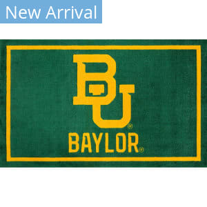 Luxury Sports Rugs Team Baylor University Green Area Rug