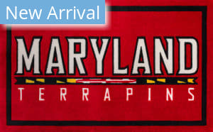 Luxury Sports Rugs Team University Of Maryland Red Area Rug