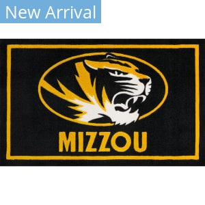 Luxury Sports Rugs Team University Of Missouri Black Area Rug