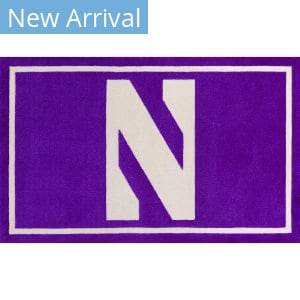 Luxury Sports Rugs Team Northwestern University Purple Area Rug