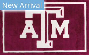 Luxury Sports Rugs Team Texas A&M University Maroon Area Rug