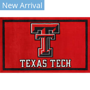 Luxury Sports Rugs Team Texas Tech University Red Area Rug