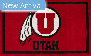 Luxury Sports Rugs Team University Of Utah Red Area Rug