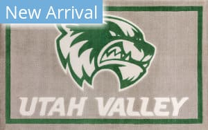 Luxury Sports Rugs Team Utah Valley University Gray Area Rug