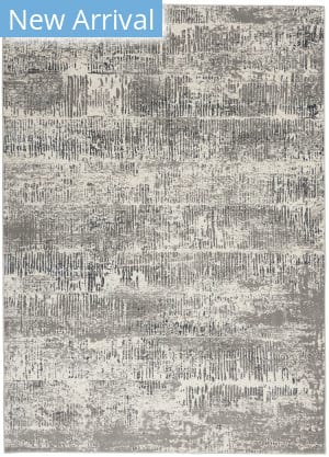 Michael Amini Uptown UPT03 Ivory - Grey Area Rug