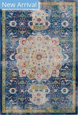 Nourison Global Vintage Glb03 Blue Area Rug