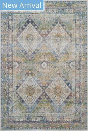 Nourison Global Vintage Glb07 Blue - Green Area Rug