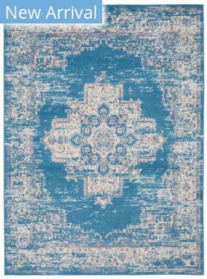 Nourison Grafix Grf14 Blue Area Rug