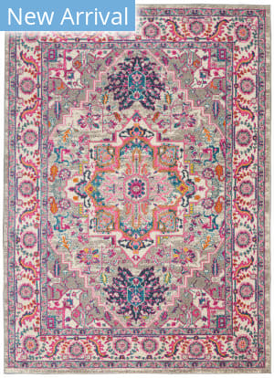 Nourison Passion Psn20 Light Grey - Pink Area Rug
