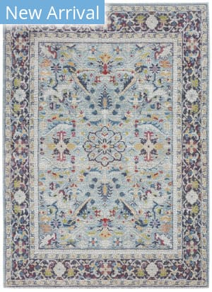 Nourison Ankara Global Anr14 Teal - Multicolor Area Rug