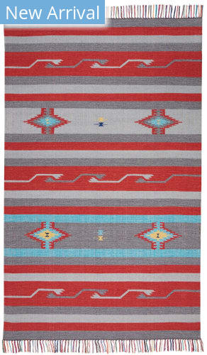 Nourison Baja Baj01 Grey - Red Area Rug