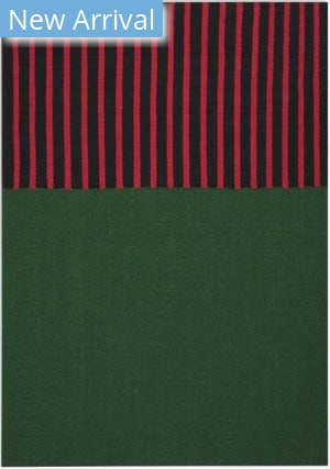 Calvin Klein Nashville Ck750 Hunter Green - Magenta - Black Area Rug