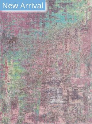 Nourison Corsica Shag Crc02 Pink Area Rug