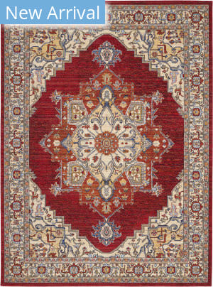 Nourison Majestic Mst05 Red Area Rug