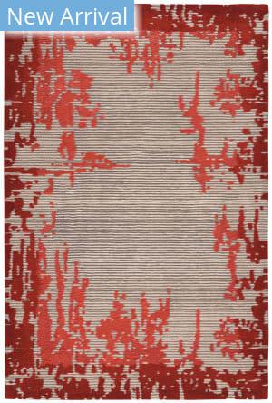Nourison Symmetry Smm02 Beige - Red Area Rug