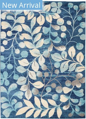 Nourison Tranquil Tra03 Navy Area Rug